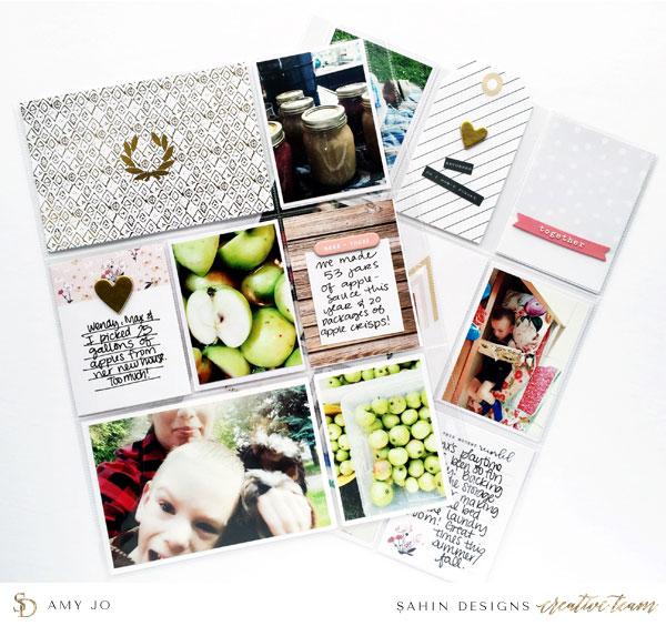 Pocket Scrapbook Layout Inspiration | Sahin Designs