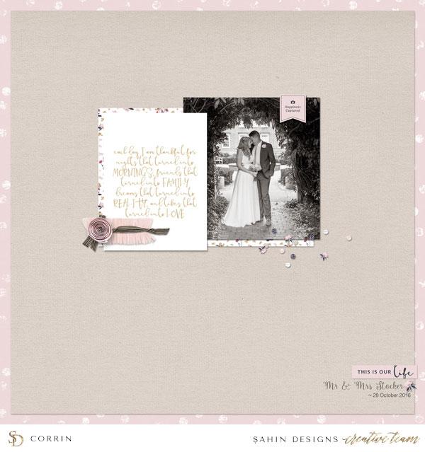 Digital Scrapbook Layout Inspiration | Sahin Designs