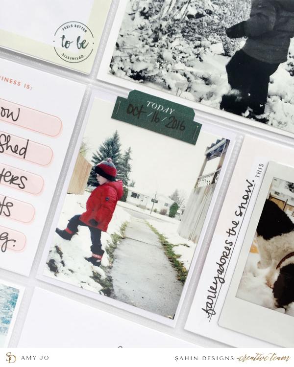 Pocket Scrapbook Inspiration - Sahin Designs - Project Life