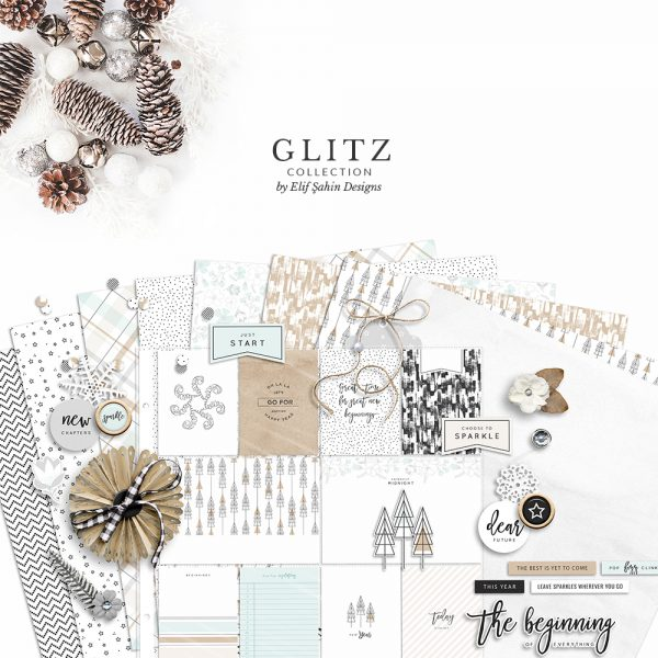 Glitz Digital Scrapbook Collection - New Year Theme - Sahin Designs