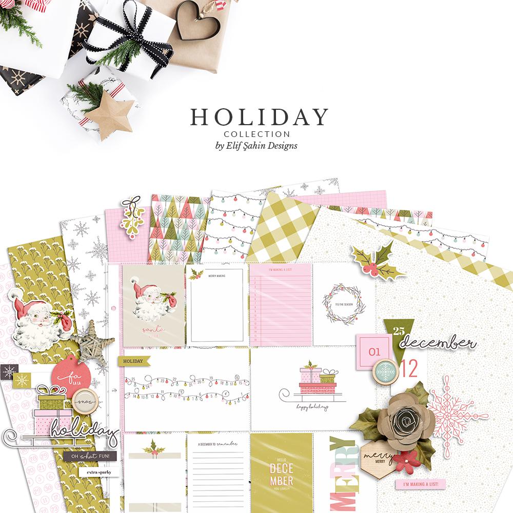 Holiday Digital Scrapbook Collection - Sahin Designs