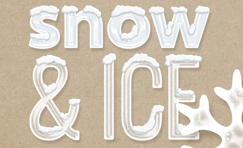 How to Use Ice and Snow Photoshop Layer Styles - Sahin Designs - Digital Scrapbook Tutorial
