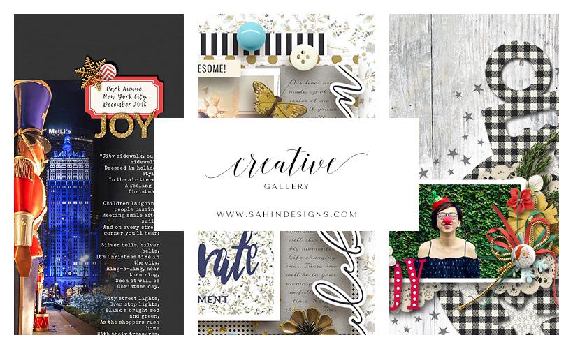 December Creative Scrapbook Gallery 2016 Sahin Designs