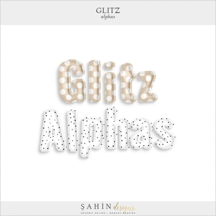 Glitz Digital Scrapbook Alpha - New Year Theme - Sahin Designs