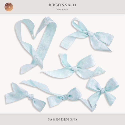 Extracted Digital Blue Ribbons - CU Digital Scrapbook - Sahin Designs