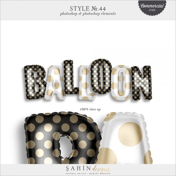 Balloon Photoshop Layer Styles - Sahin Designs - CU Digital Scrapbook