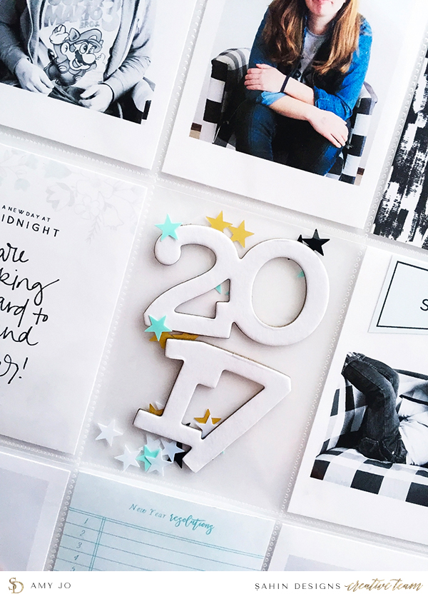 New Year project life inspiration - Sahin Designs