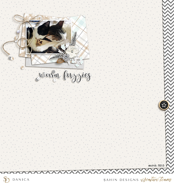 New Year scrapbook layout inspiration - Sahin Designs