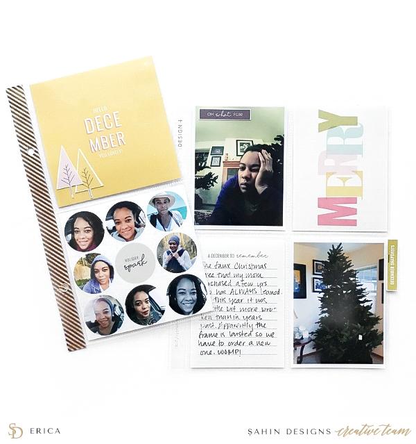 Christmas Project Life Layout Idea - Sahin Designs