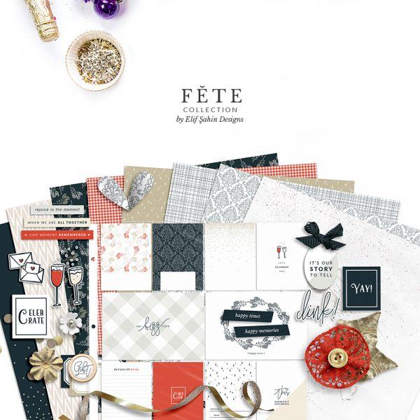 Fête Digital Scrapbook Collection - Celebrations Theme - Sahin Designs