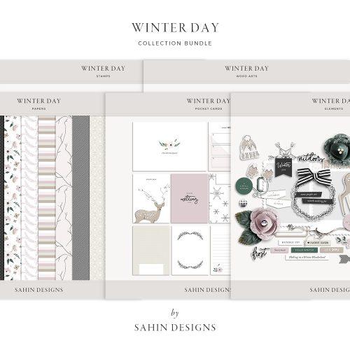 Winter Day Digital Scrapbook Collection - Sahin Designs