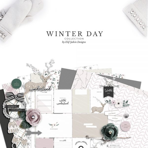 Winter Day Digital Scrapbook Collection - Sahin Designs
