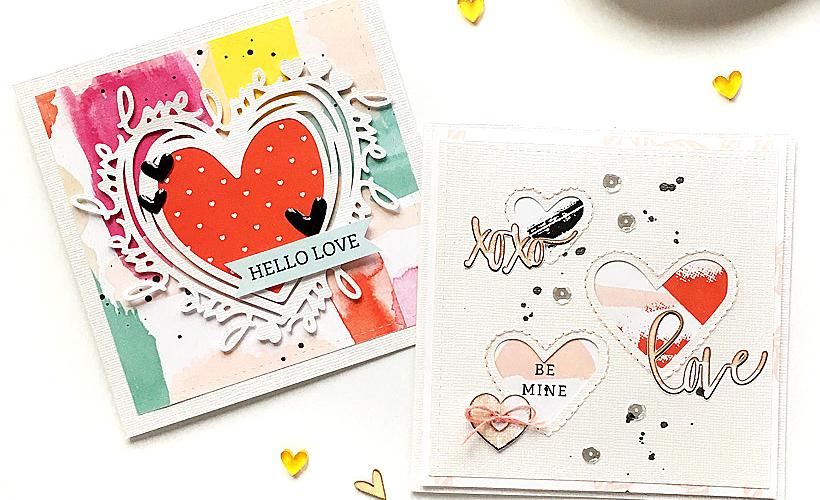 Simple and Fun DIY Valentine's Cards - Sahin Designs - Hybrid Scrapbook