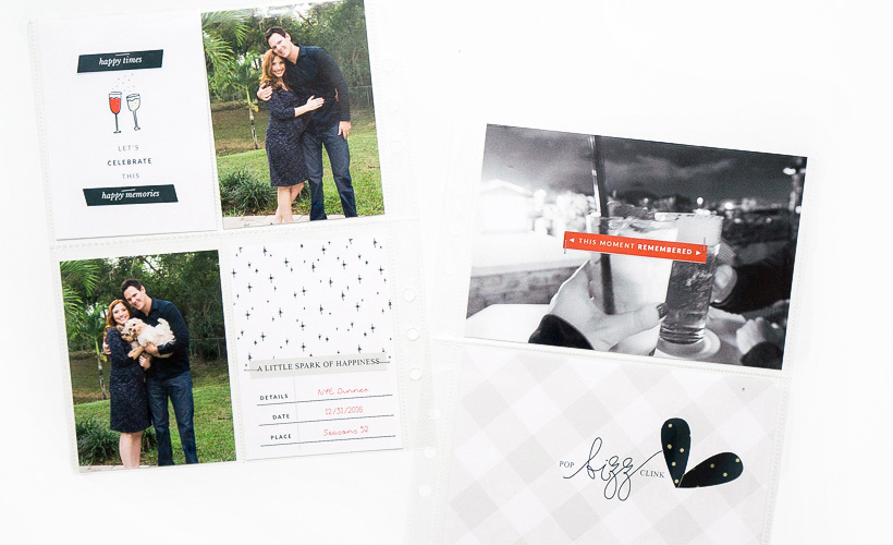 Documenting New Years Eve - Pocket Scrapbooking - Sahin Designs