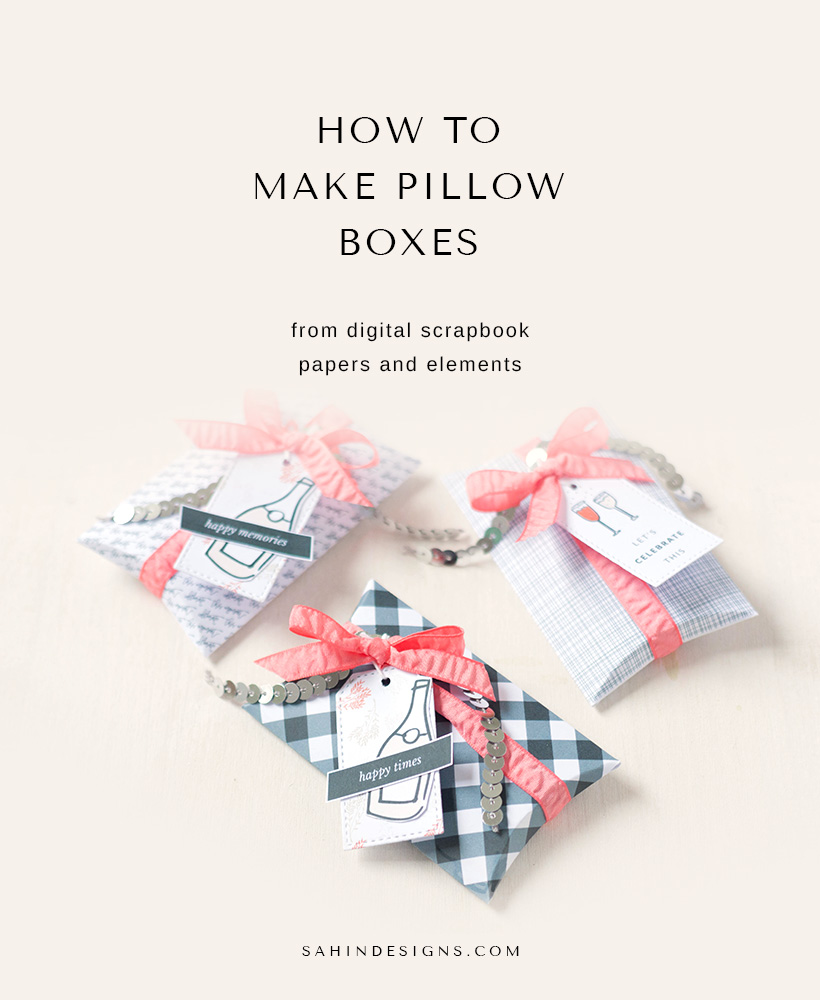 How to make scrapbook box - How To Make Pillow Box Sahin Designs Hybrid Scrapbook Tutorial