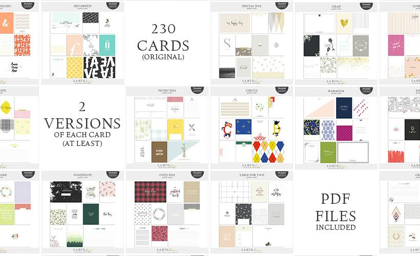 2016 Digital Scrapbook Cards Bundle - Sahin Designs