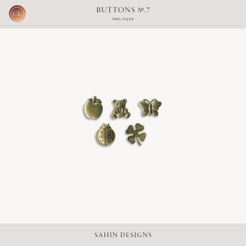 Extracted Gold Buttons - Sahin Designs - CU Digital Scrapbook