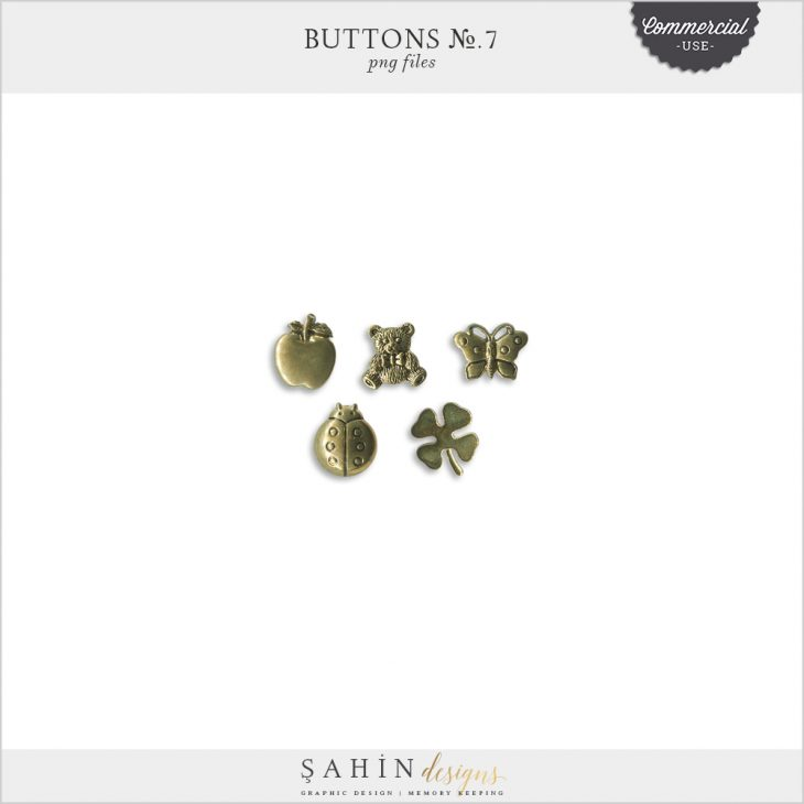 Extracted Gold Buttons - Sahin Designs - CU Digital Scrapbook
