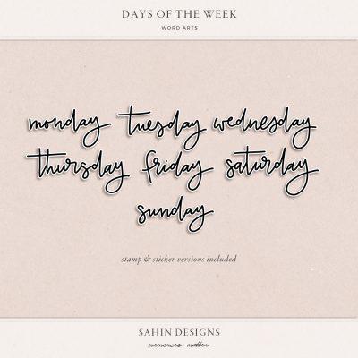 Handwritten Digital Days Word Art - Sahin Designs - Digital Scrapbooking