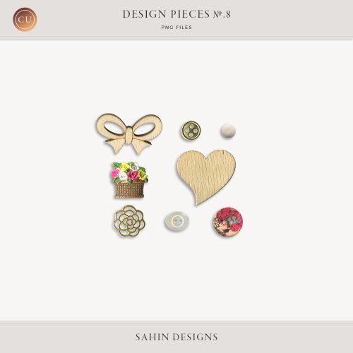 Design Pieces No-8 - Sahin Designs - CU Digital Scrapbook