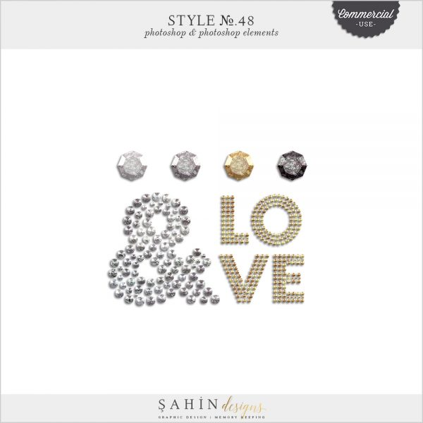 Diamond Photoshop Layer Styles - Sahin Designs - CU Digital Scrapbook