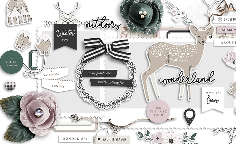 Shop Update   Winter Day Collection, January Layout Templates & Handwritten Months & Days Word Arts