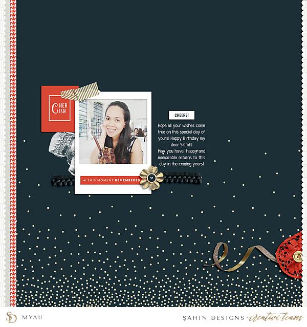 Celebration Digital Scrapbook Layout - Sahin Designs