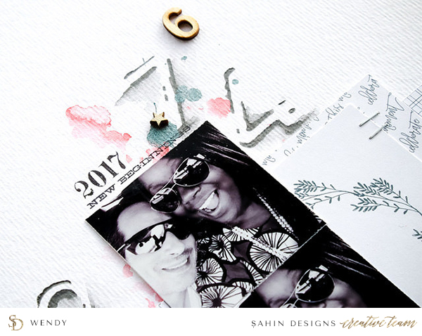 Celebration Scrapbook Layout - Sahin Designs
