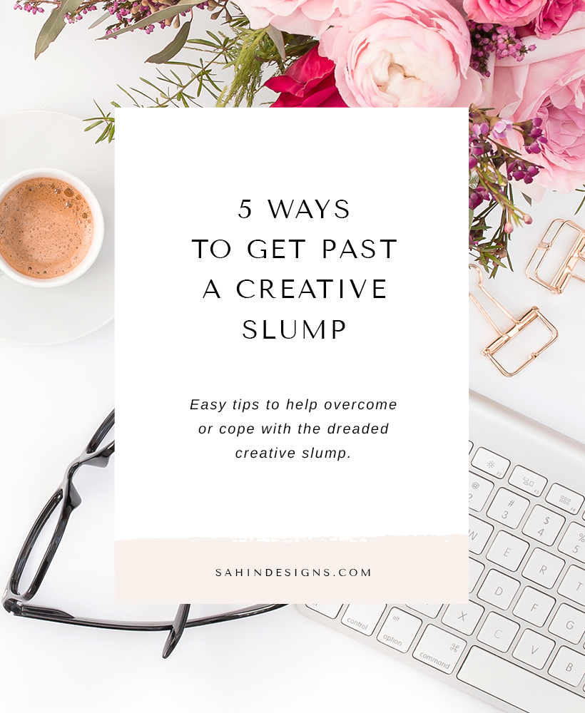 5 Ways to Get Past a Creative Slump - Scrapbooking Tips - Sahin Designs