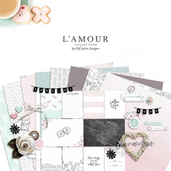L'amour Digital Scrapbook Collection - Sahin Designs