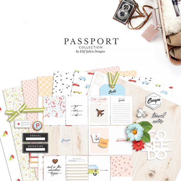 Passport Digital Scrapbook Collection - Sahin Designs - Travel Theme