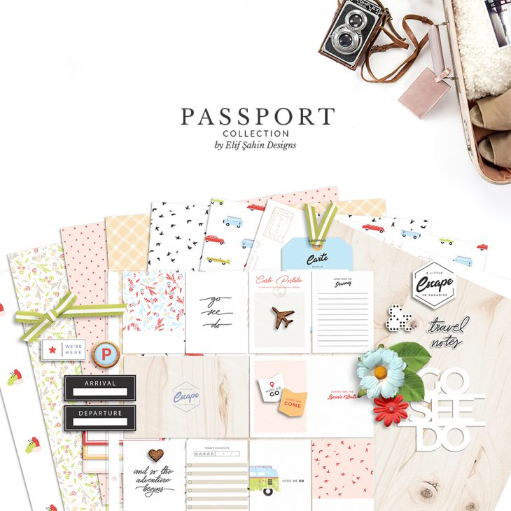 Passport Digital Scrapbook Collection - Sahin Designs - Travel Theme