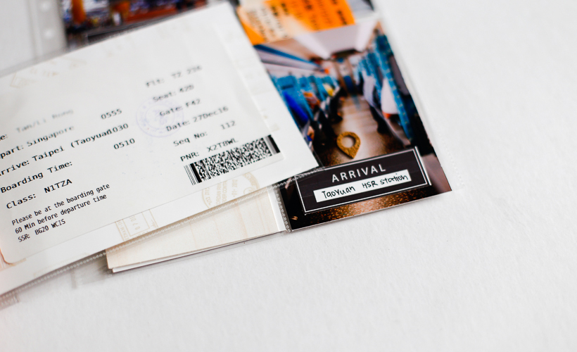 Adding Ephemera to Travel Pocket Album - Sahin Designs - Scrapbooking