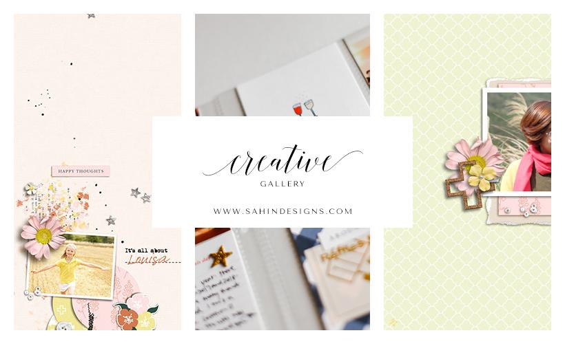 Digital Scrapbook Layout Inspiration - February 2017 Creative Gallery - Sahin Designs