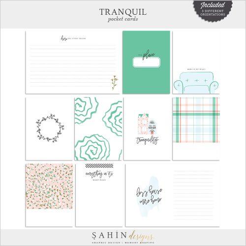 Tranquil Digital Scrapbook Pocket Cards -Home - Sahin Designs