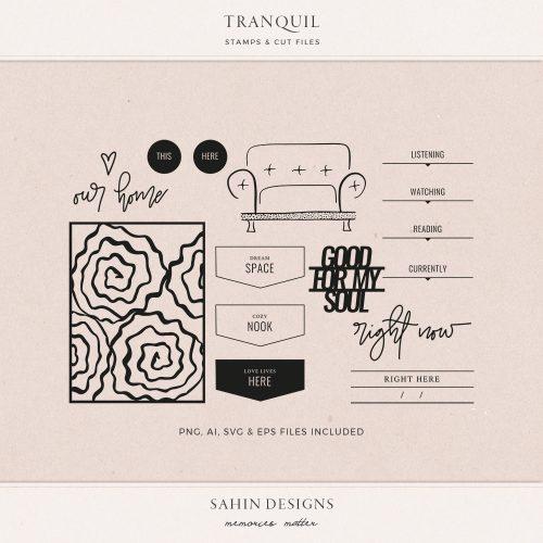 Tranquil Digital Scrapbook Stamps - Sahin Designs