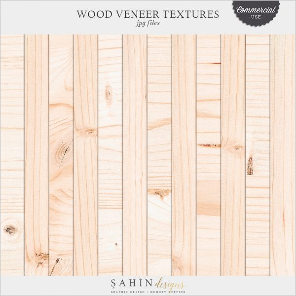 Digital Wood Veneer Textures for Commercial Use Digital Scrapbooking - Sahin Designs