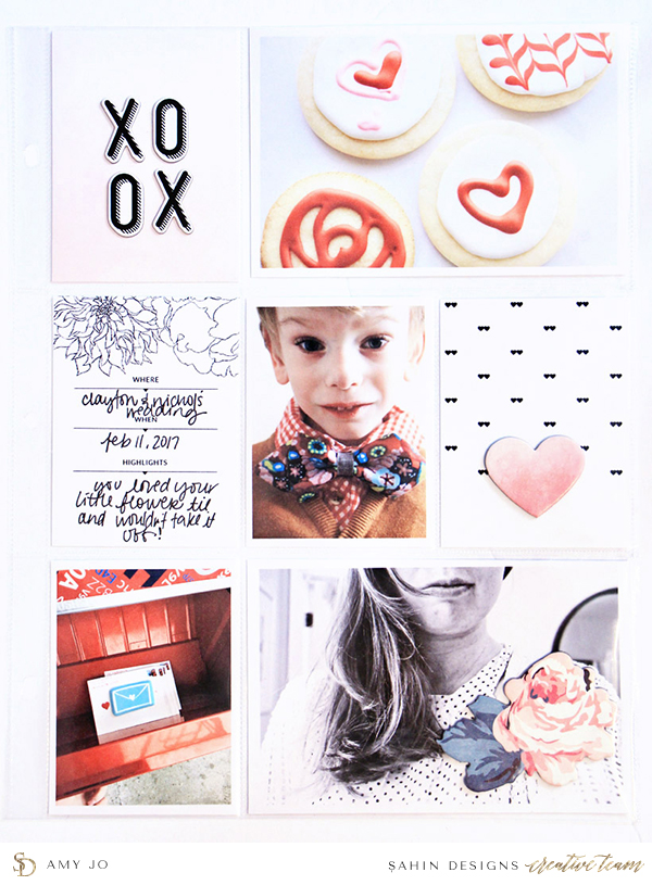 Boy/Child pocket scrapbook layout - Sahin Designs - Project Life