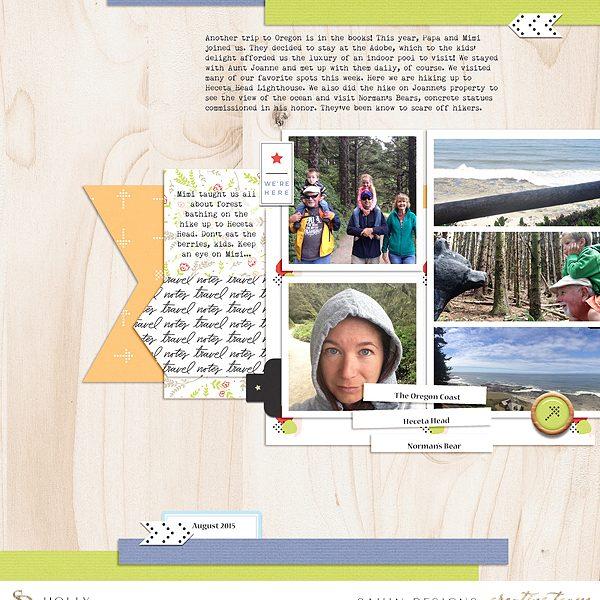 Travel digital scrapbook layout idea - Sahin Designs