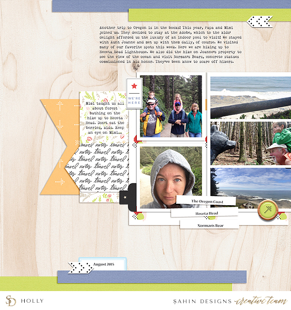 Travel digital scrapbook layout idea - Sahin Designs