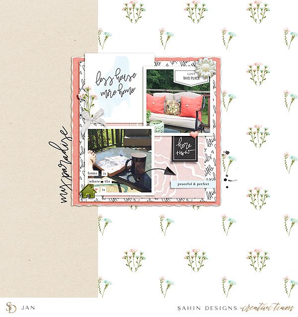Home Digital Scrapbook Layout - Sahin Designs
