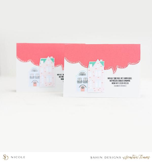 Home themed hybrid card - Sahin Designs
