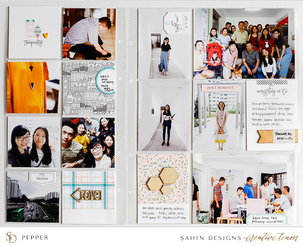 Everyday Pocket Scrapbook Layout - Sahin Designs - Project Life