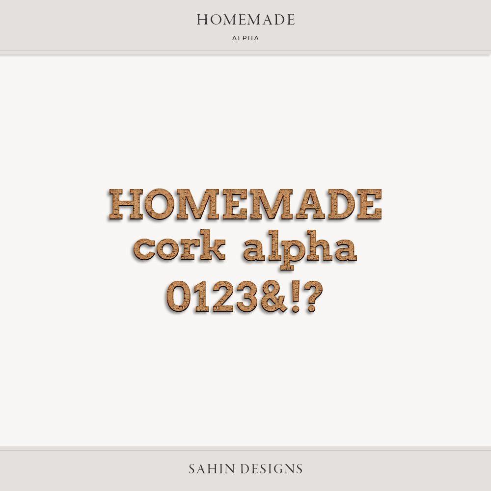 Homemade Digital Scrapbook Alpha - Sahin Designs