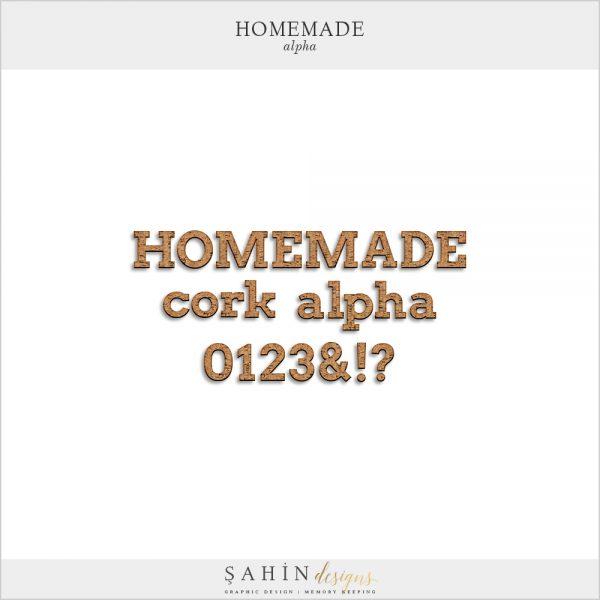 Homemade Digital Scrapbook Alphabet - Sahin Designs