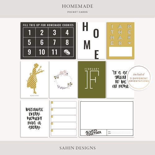 Homemade Printable Pocket Cards - Sahin Designs
