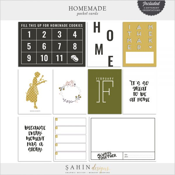 Homemade Digital Scrapbook Pocket Cards - Sahin Designs