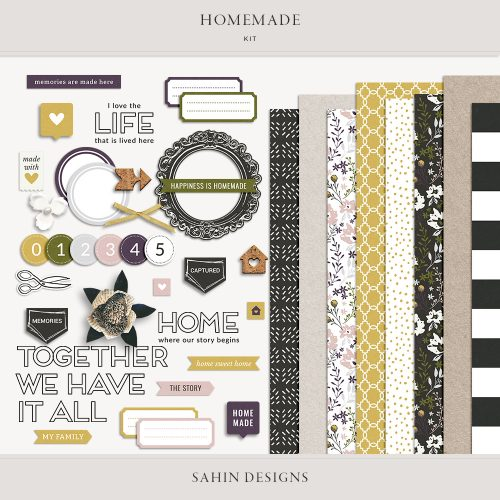 Homemade Digital Scrapbook Kit - Sahin Designs