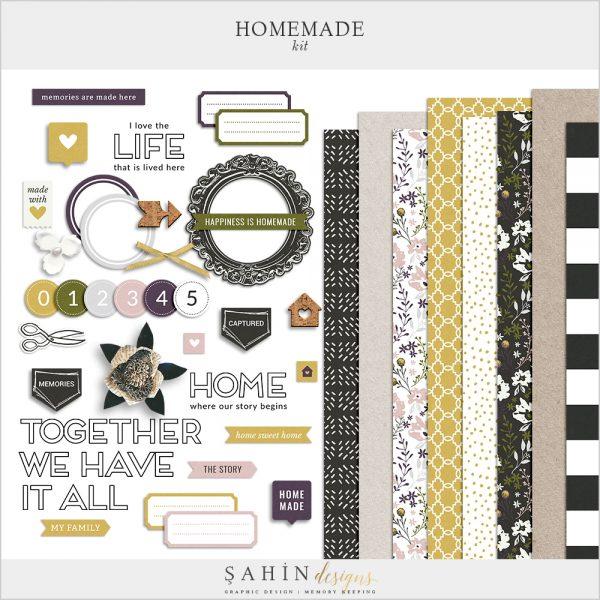 Homemade Digital Scrapbook Kit - Sahin Designs
