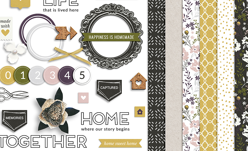 Homemade Digital Scrapbook Collection - Sahin Designs